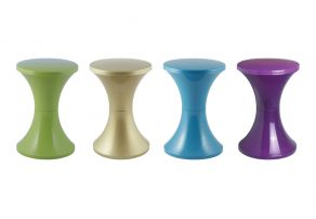 Set of 4 Tam Tam Pop stools with mixed colors, Henry Massonnet Matea