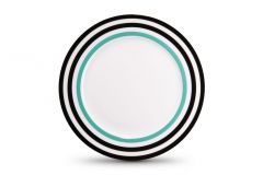 Assiette Black Lines, Thomas Paul Matea