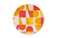 Orange Geometric Plates, Maud LC Matea
