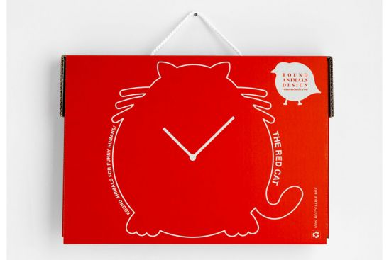 Horloge Chat Rouge, Antonio Mastrorilli__(