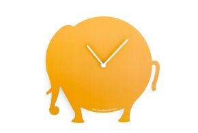 Orange Elephant clock, Antonio Mastrorilli Matea