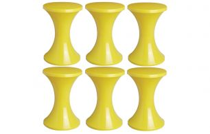 Set of 6 Tam Tam Pop stools, Henry Massonnet Matea