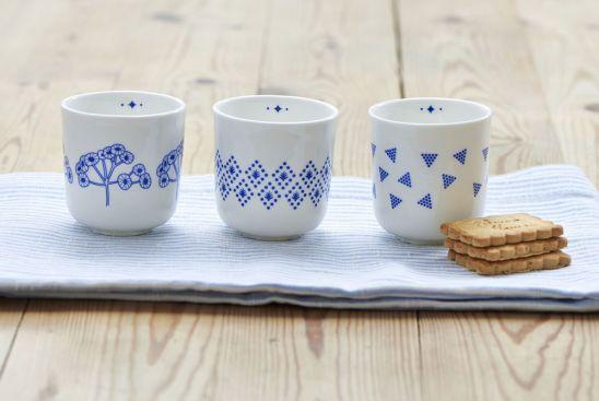 Tasse triangles bleues, Mr & Mrs Clynk__(